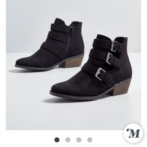 ModCloth black ankle booties
